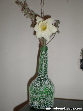 Декоративные бутылки покрытые инеем