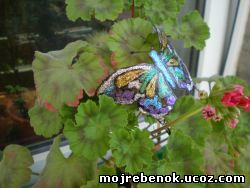 бабочка изпластика
