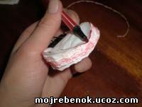 Гвоздики из бумажных салфеток