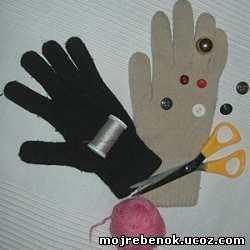 Человечек из перчатки. Поделки с детьми