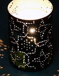 Самодельные садовые фонарики