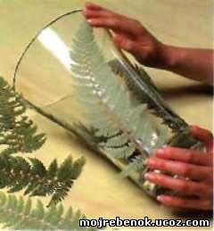 Ваза «Листья папоротника» (подарок своими руками)