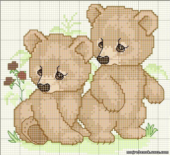 Вышиваем медвежат