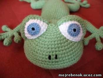 Вязание крючком: Ящерица